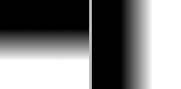 Horizontal and vertical blending masks