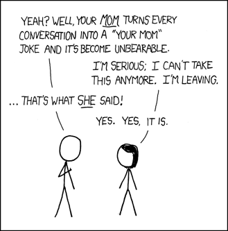 xkcd - your mom